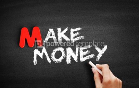 Business: Make money text on blackboard #00088