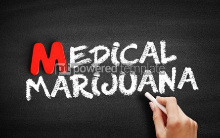 Business: Medical Marijuana text on blackboard #00089