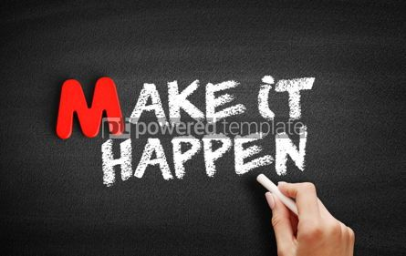 Business: Make it Happen text on blackboard #00091