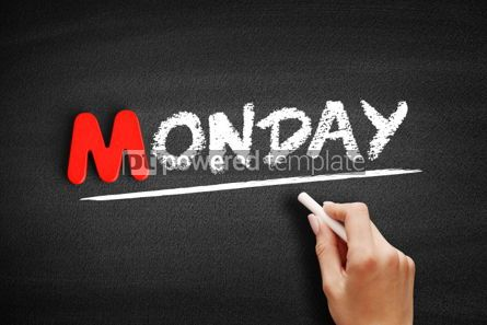 Business: Monday text on blackboard #00094