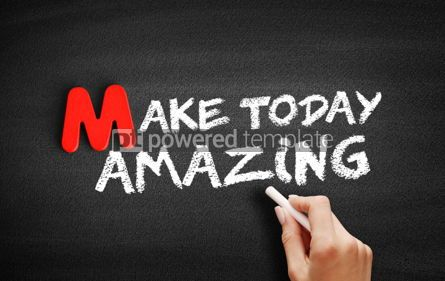 Business: Make Today Amazing text on blackboard #00095