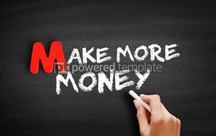 Business: Make More Money text on blackboard #00097