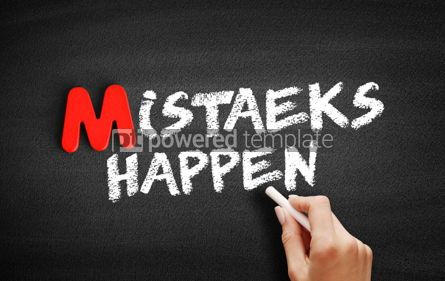 Business: Mistaeks Happen text on blackboard #00099