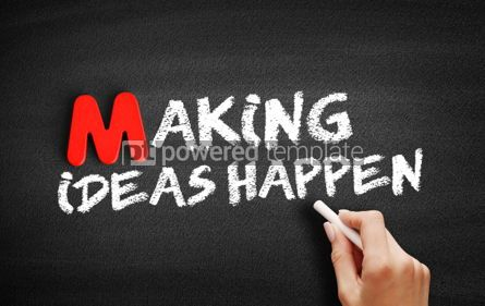 Business: Making Ideas Happen text on blackboard #00100