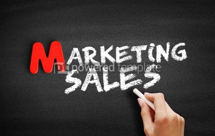 Business: Foto - texto de vendas de marketing no quadro-negro #00107