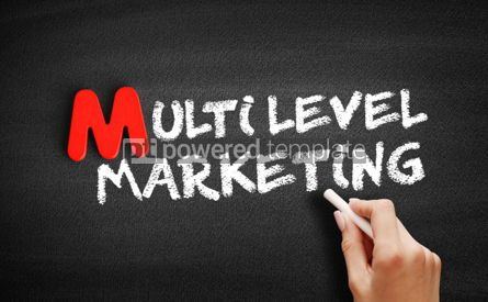 Business: Multi level marketing text on blackboard #00109