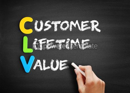 Business: CLV Customer Lifetime Value acronym #00112