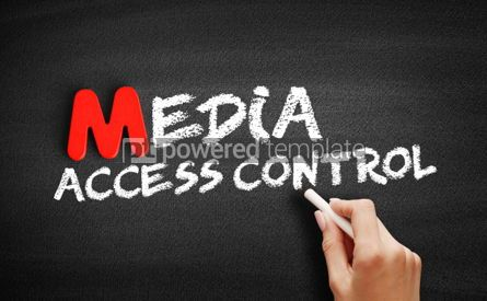 Business: Media Access Control text on blackboard #00113