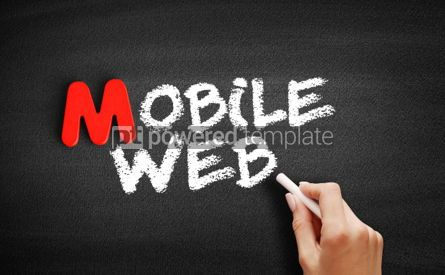 Business: Mobile web text on blackboard #00116