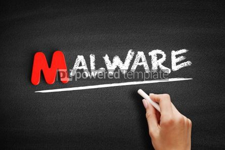 Business: Malware text on blackboard #00121