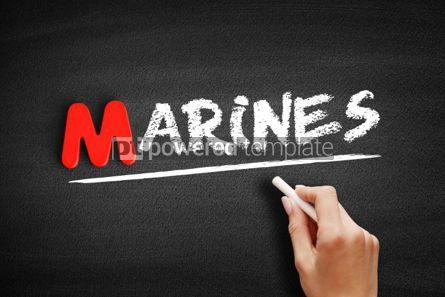Business: Marines text on blackboard #00123