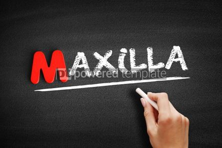 Business: Maxilla text on blackboard #00128