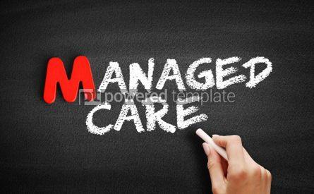 Business: 사진 - 칠판에 관리 의료 텍스트 #00129