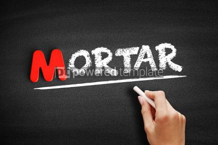 Business: Mortar text on blackboard #00131