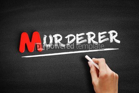 Business: Murderer text on blackboard #00132