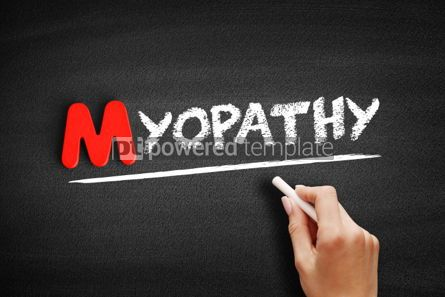 Business: Myopathy text on blackboard #00136