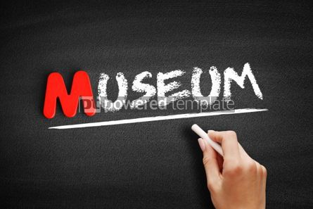 Business: Museum text on blackboard #00137