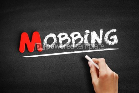 Business: Mobbing text on blackboard #00139