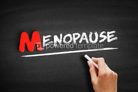 Business: Menopause text on blackboard #00140