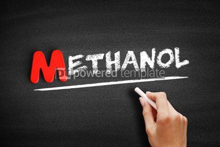 Business: Methanol text on blackboard #00142