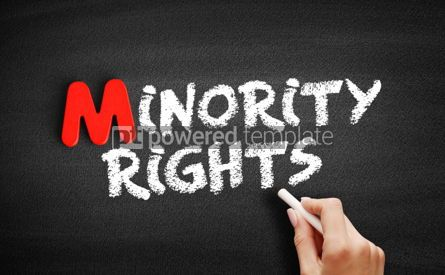 Business: Minority rights text on blackboard #00144