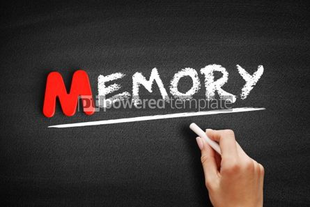 Business: Memory text on blackboard #00146