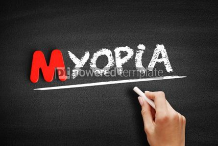 Business: Myopia text on blackboard #00148