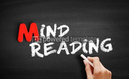 Business: Mind reading text on blackboard #00149