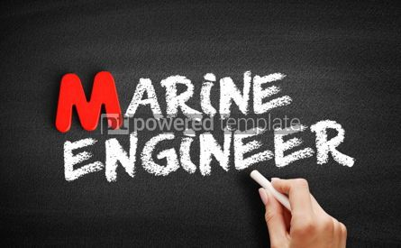 Business: Marine engineer text on blackboard #00150