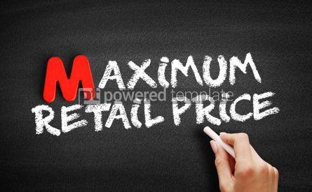 Business: Maximum Retail Price text on blackboard #00153