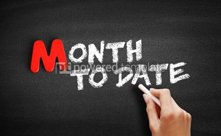 Business: Month To Date text on blackboard #00154