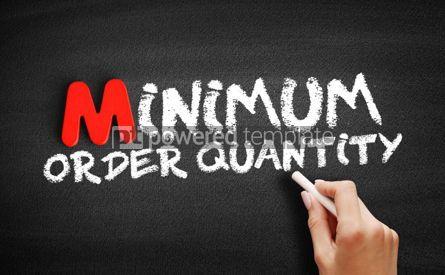 Business: Minimum Order Quantity text on blackboard #00155
