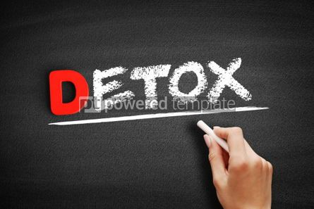 Business: Detox text on blackboard #00156
