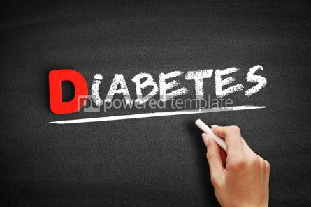 Business: Diabetes text on blackboard #00158