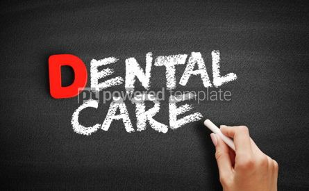 Business: Dental Care text on blackboard #00162