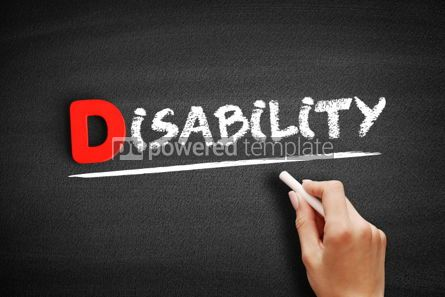 Business: Disability text on blackboard #00163