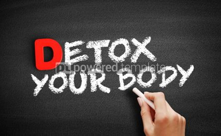 Business: Detox Your Body text on blackboard #00164