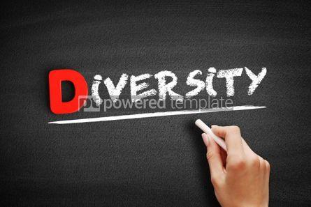Business: Diversity text on blackboard #00168