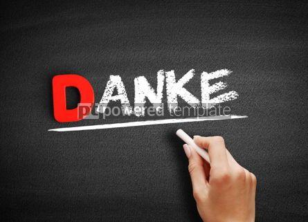 Business: Danke thank you in german text on blackboard #00169