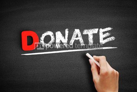 Business: Donate text on blackboard #00170