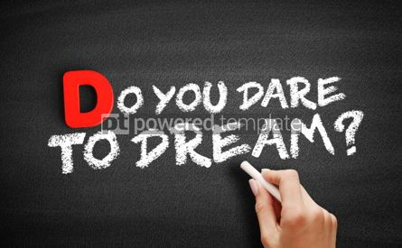Business: Do You Dare to Dream text on blackboard #00177
