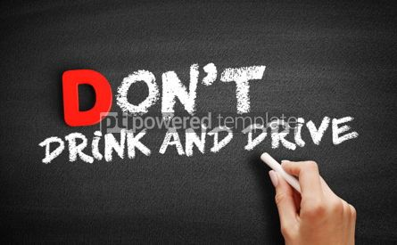 Business: Don't Drink and Drive text on blackboard #00180