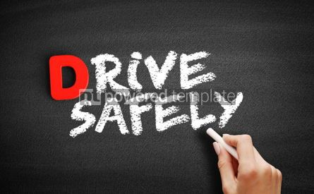 Business: Drive Safely text on blackboard #00181