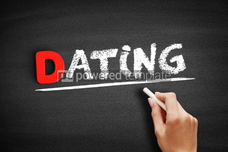 Business: Dating text on blackboard #00183