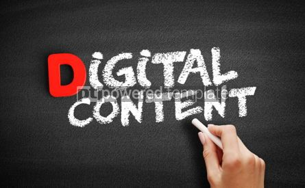 Business: Digital Content text on blackboard #00186