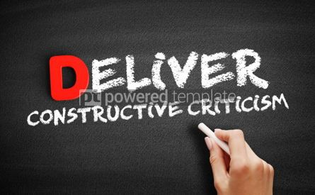 Business: Deliver Constructive Criticism text on blackboard #00187
