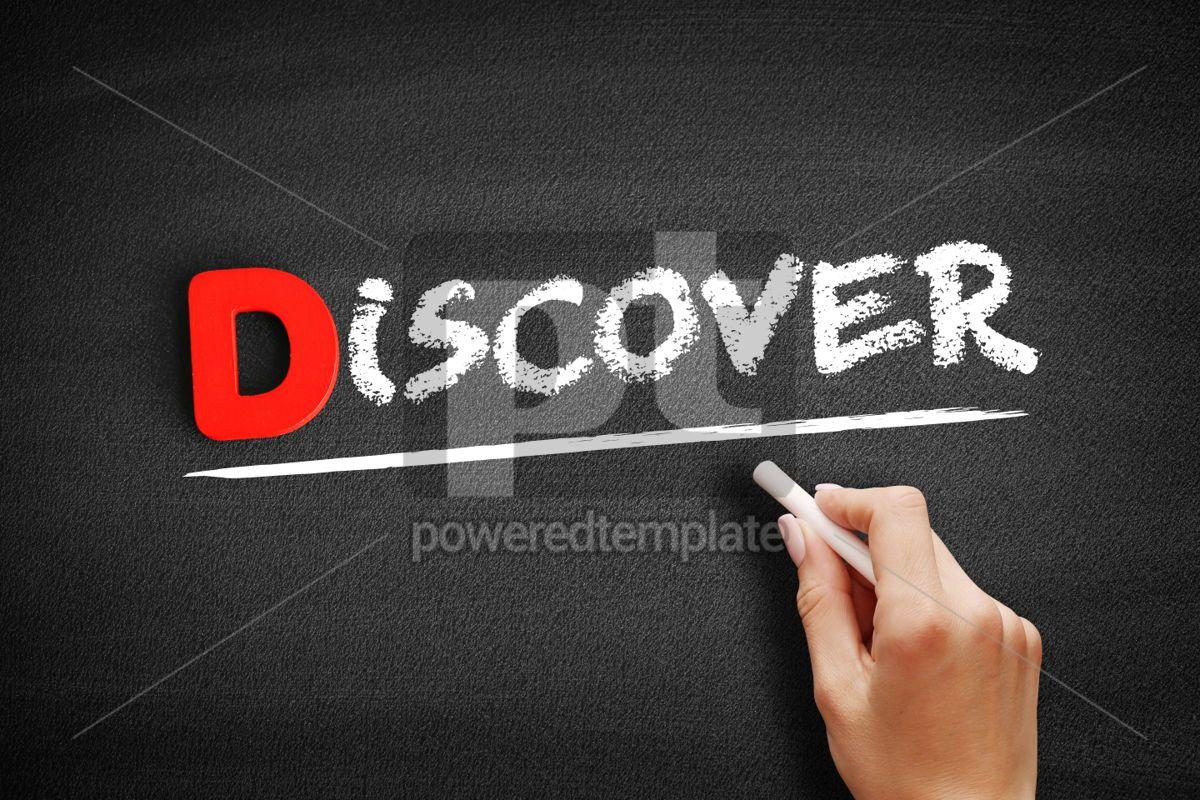 DISCOVER text on blackboard, 00189, Business — PoweredTemplate.com