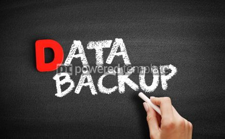 Business: Data Backup text on blackboard #00193