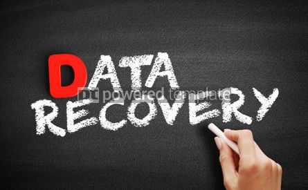 Business: Data Recovery text on blackboard #00194