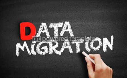 Business: Data Migration text on blackboard #00195